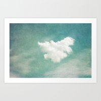 cloud Art Prints featuring Cloud by Juste Pixx Photography