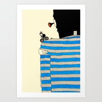 tour de france Art Prints featuring Tour de France by Natallia Pavaliayeva