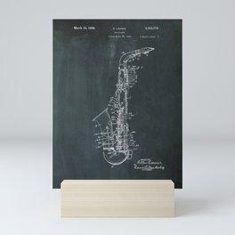 Tenor saxophone patent Mini Art Print
