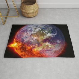Global Warming Climate Change Rug