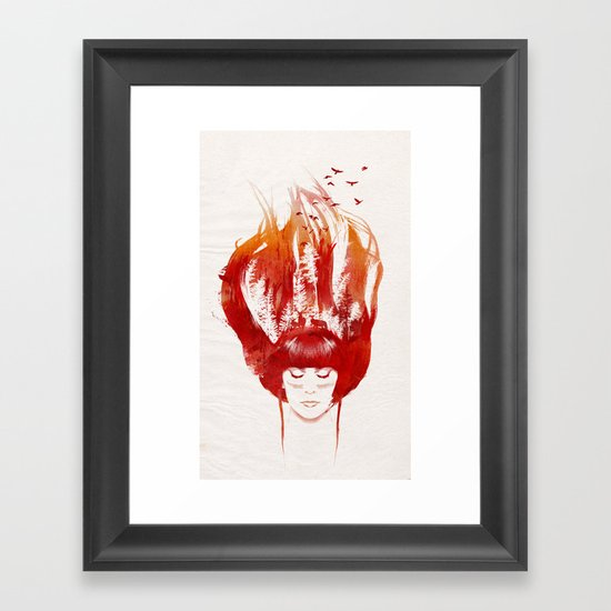 Burning Forest Framed Art Print