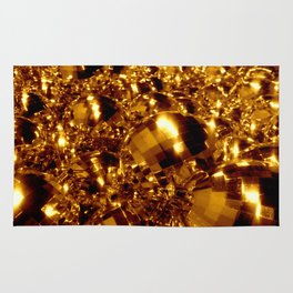 Gold Christmas Ornaments Rug