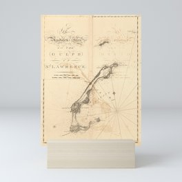 The Atlantic Neptune: Charts for the Use of the Royal Navy (1780) - Magdalen Is, Gulf of St Lawrence Mini Art Print