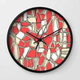 BROKEN POP coral Wall Clock