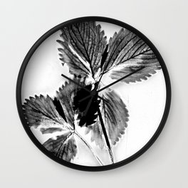 Strawberry Leaves Wall Clock