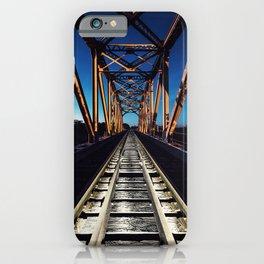 Railroad in Twilight iPhone Case