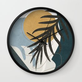 Abstract Tropical Art II Wall Clock