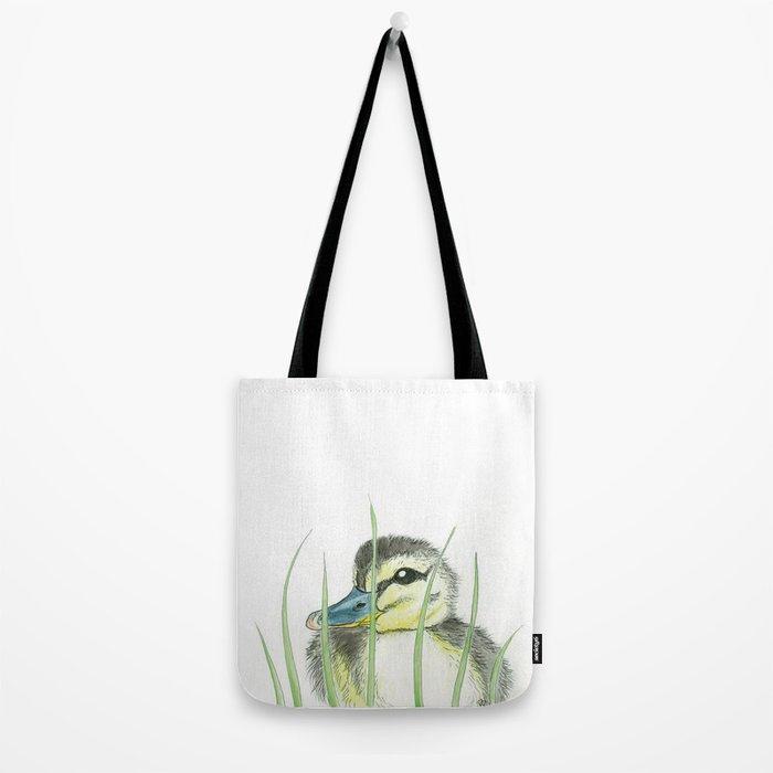 Peekaboo Baby Duck Tote Bag