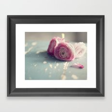 Love In The Rain Framed Art Print