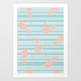 Minty palm Art Print