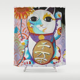 LUCKY CAT Shower Curtain