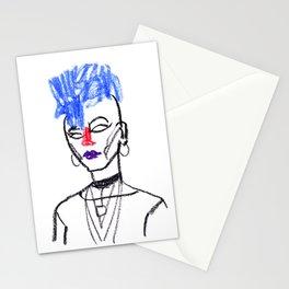 Mohawk girl Stationery Cards