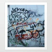 banksy Art Prints featuring Banksy Truck by MikeKornArt