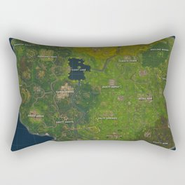 Fortnite battle royale map Rectangular Pillow
