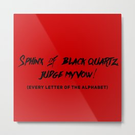 Every Letter of Alphabet Metal Print