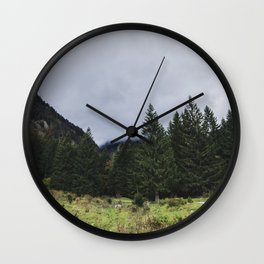 Mystic Forest in Slovenia 05 Wall Clock