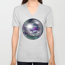 Rainbow Fluorite Crystal Ball Unisex V-Neck