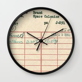Library Card 797 Wall Clock