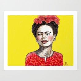 Frida Chinese New Year Art Print