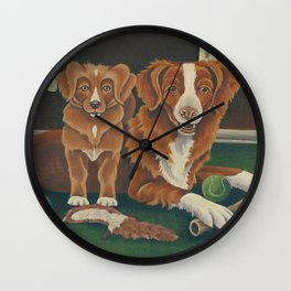 2 Tollers Wall Clock