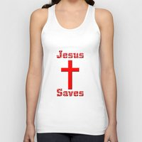 cross Tank Tops featuring Cross by gbcimages