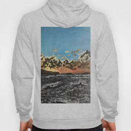 Sunset over the sea Hoody