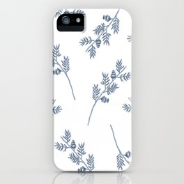 Branches in Blue iPhone Case