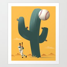 Cactus League Art Print
