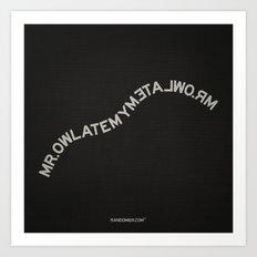 Palindrome: Mr. Owl Art Print