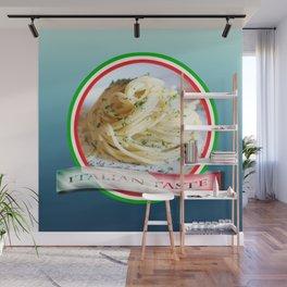 Food. Rolled spaghetti. Italian taste. Wall Mural