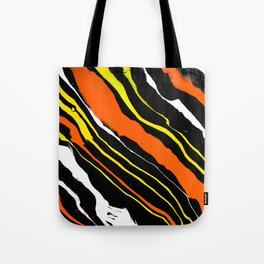 Line of Fire - Diagonal Tote Bag