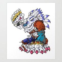 Weregarurumon Art Print