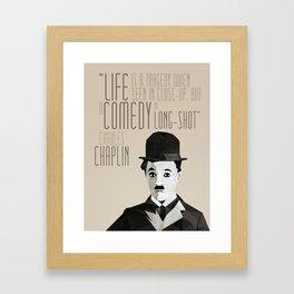 Chaplin Scomposition Framed Art Print
