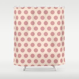 Dusty Rose Polka Dots 771 Shower Curtain