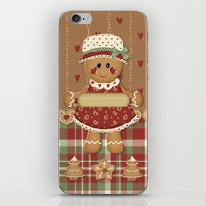 Gingerbread Country Christmas iPhone & iPod Skin