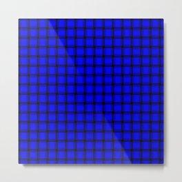 Small Blue Weave Metal Print