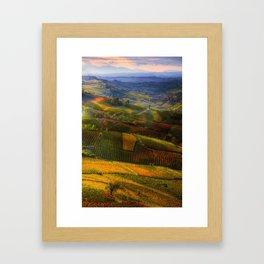 Tuscany, italian wineyards Framed Art Print