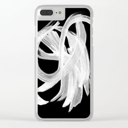 Whirligig Black Clear iPhone Case