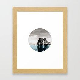 Fighting Cock Islet on Ha Long Bay Vietnam Framed Art Print