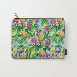 Passiflora vines light blue Carry-All Pouch