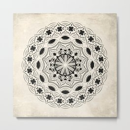 Mandala2Black Metal Print