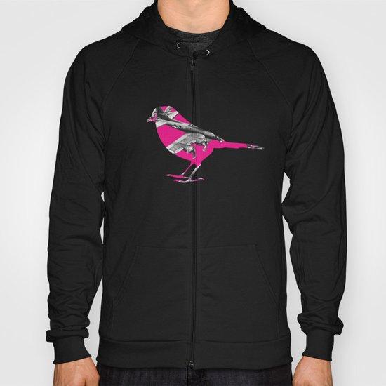 Pink Bomber Bird Hoody