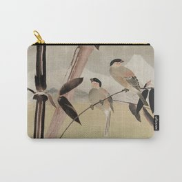 Two Birds in Bamboo Tree Carry-All Pouch