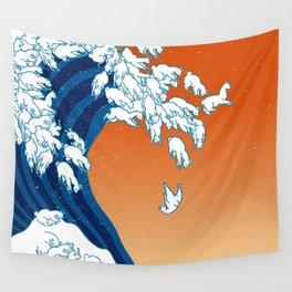 Llama Waves Wall Tapestry