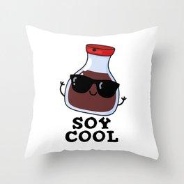 Soy Cool Cute Soy Sauce Pun Throw Pillow
