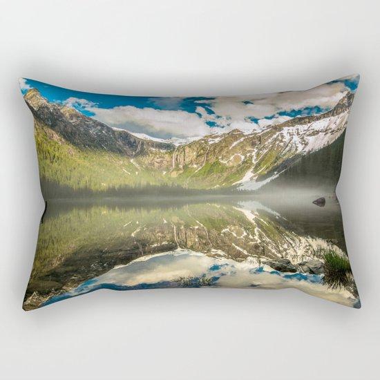 Mountains Reflection Rectangular Pillow