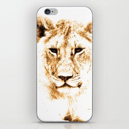 Animals Of The Rainbow Lion iPhone Skin