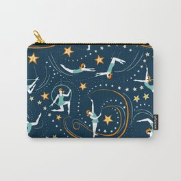 Circus Performers 1920s Acrobats on dark navy Carry-All Pouch