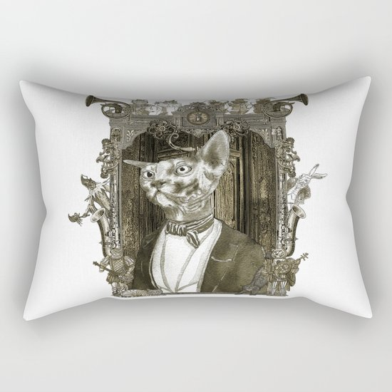 Steampunk Mr. Sphinx Rectangular Pillow