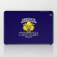 royal tenenbaums iPad Cases featuring Obsolete Vernacular Wildcats (Royal Tenenbaums) by Tabner's